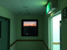 廊下の突き当たり富士山その1.